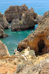 Cape of Ponta da Pietade in Algarve