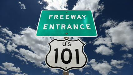 US 101 Freeway Sign Time Lapse