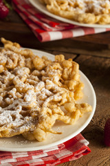 Homemade Funnel Cake with Powdered Sugar