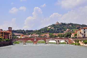 Panorama of Verona old town