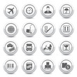 Logistics buttons on white background