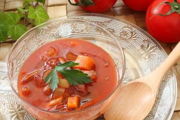 トマトスープ ガスパチョ 冷製スープ