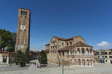 Basilica dei SS Maria e Donato at Murano island, Venice, Italy