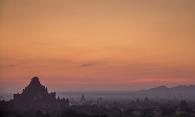 Sunrise in Bagan Myanmar/Burma