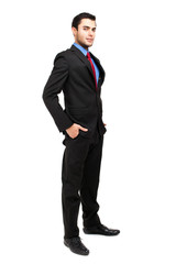 Handsome businessman full length
