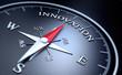 Leinwandbild Motiv Kompass - Innovation