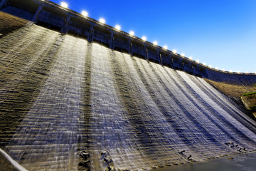 Dam at night