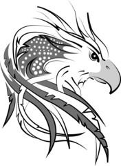 eagle head on white fondant