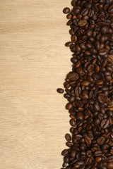 Vertical coffee beans