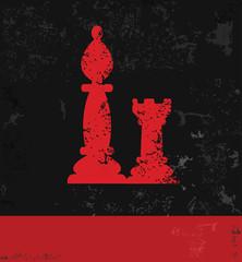 Chess symbol,grunge vector