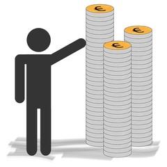 Strichmännchen Geld