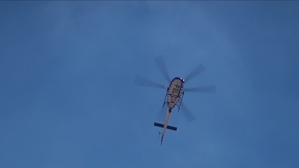 Police helicopter on duty.