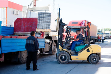 loading of ferroconcrete products