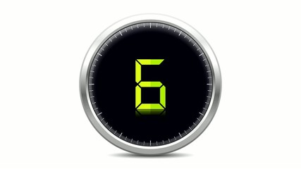 Digital clock - Countdown from 10 to 0