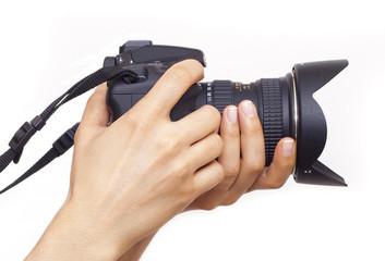 fotoğraf makinesını tutmak