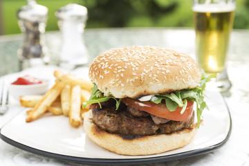 Bacon and Bleu Stuffed Cheeseburger