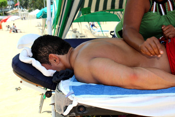 Muscle Relaxing Massage at the Beach