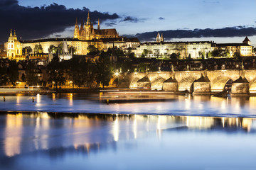Prague by night, Czech republic.