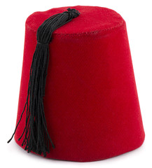 Turkish hat fez isolated on white