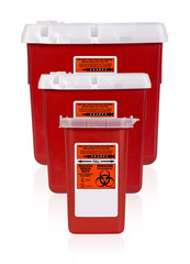 Three Sharps Containers Vertical