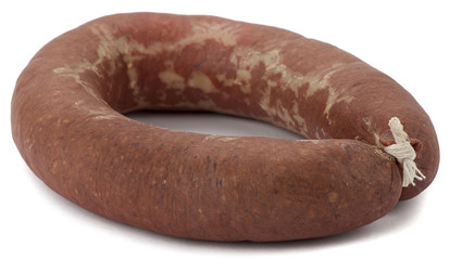 Traditional garlic-flavored sausage called sucuk