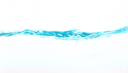 Water wave in white background