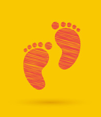 Footprint icon.