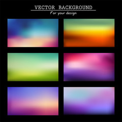Abstract colorful blurred vector backgrounds.