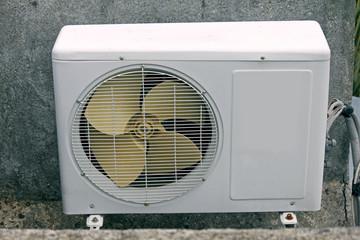 air conditioner outside compressor and condenser unit