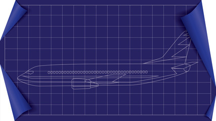 vector plane blueprint