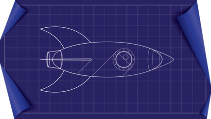 vector rocket blueprint
