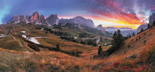 Summer landscape in the mountains. Sunrise - Italy alp