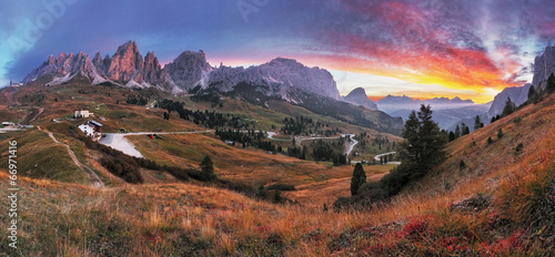 Summer landscape in the mountains. Sunrise - Italy alp © TTstudio