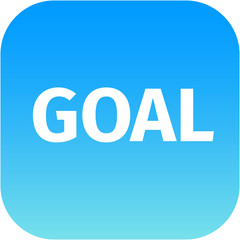 Goal icon on white background