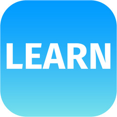 Text Learn blue icon
