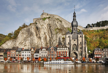 Collegiate church of Notre Dame and citadel in Dinant