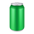 Green Metal Aluminum Beverage Drink Can