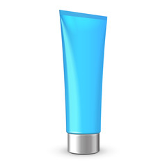 Tube Of Cream Or Gel Blue Clean