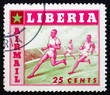 Postage stamp Liberia 1955 Running, Sport