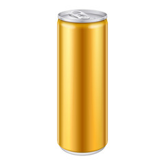 Gold Bronze Yellow Orange Metal Aluminum Beverage Drink Can