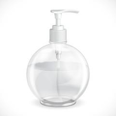 Gel, Foam Or Liquid Soap Dispenser Pump Round Plastic Bottle