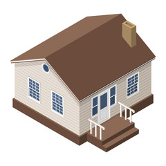 Cottage, Small Wooden House For Real Estate Brochures