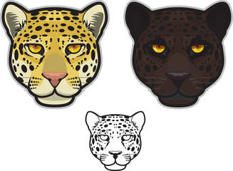 Jaguar or Leopard Face