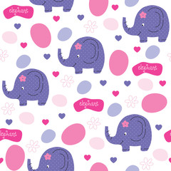 polka dots elephant pattern vector illustration