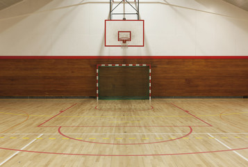 Retro indoor gymnasium