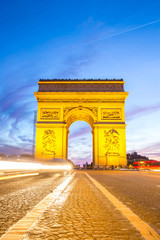 Arc of Triomphe Champs Elysees Paris