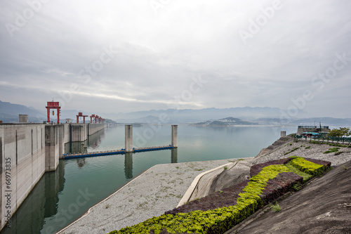 Three Gorges Dam along the Yangtze River in China - 66973835