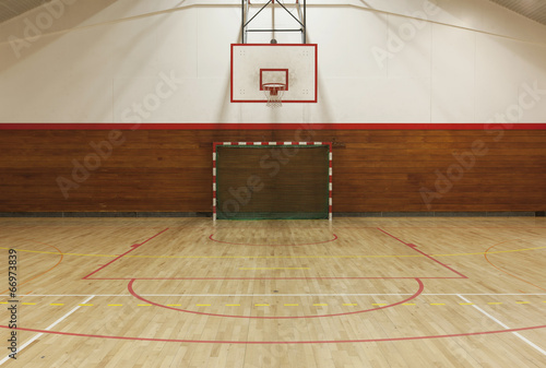 Retro indoor gymnasium - 66973839