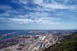 Leinwanddruck Bild - Horizont über dem Hafen von Barcelona