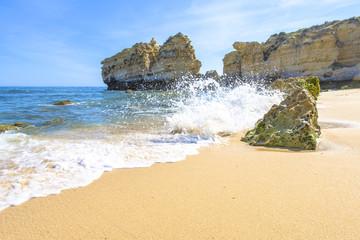 beach in Albufeira, Portugal